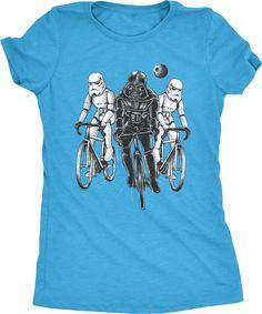 Star Bikers Darth Vader Storm Troopers Women's Tri-Blend T-Shirt