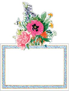 Blooms & Brooches Die Cut Place Cards - 8 per package