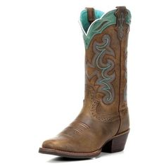 Justin Rugged Tan Buffalo boots NWOT Justin Rugged Tan Buffalo boots with teal details. Never worn! Super cute :) size 10wide Justin Shoes