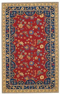 $5 Off when you share! Capel Lorraine 3075 500 Poppy Rug | Traditional Rugs #RugsUSA