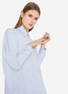 Camisa oversize volantes - Camisas y blusas - Ropa - Uterqüe España