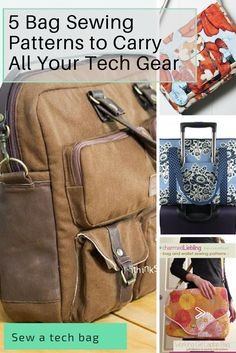 Sewing patterns for your tech.  Laptop bags you can sew yourself, all with different features.  Which bag pattern is perfect for you?