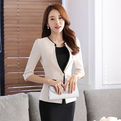 wholesale 2016 summer new salon at the front desk work professional coat sleeve skirt suits hotel uniforms office work clothes|9ee7f5ac-6020-4781-af43-6dda7bb13709|