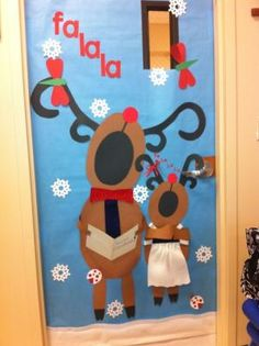 """Great classroom door idea - except they need to be singing """"May your days...."""" by esperanza"""