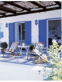 How to decorate the beach house Coastal Homes, Coastal Living, Beach Cottage Style, Beach House, Greek Garden, Greek Decor, Mediterranean Decor, Beach Shack, Outdoor Living