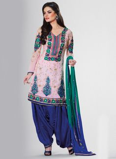 Resham-Embroidered-Semi-Patiala-Suit