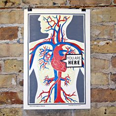 You Are Here Letterpress Print | Street Anatomy Gallery Store