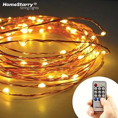 Clearance Sale 67 Off By Homestarry String Lights 120 Warm White Leds On A Flexible Copper Wire 20 Ft Perfect For Interior Or Patio Environments Add Romantic Light To Your Bedroom Accent Starry String Lights, Patio String Lights, Twinkle Lights, Battery Operated Christmas Lights, Led Christmas Lights, Holiday Lights, Warm White Fairy Lights, Outdoor Fairy Lights, Sweet Home