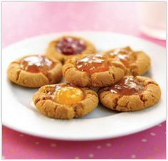 Peanut butter and jelly cookies! South Beach Diet phase 2