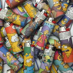 3 brand new custom Simpsons BIC lighters by bitchnug on Etsy