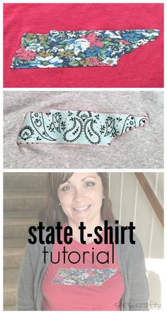 She's crafty: state tshirt tutorial with appliqué  www.shescraftycrafty.com