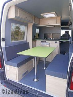 Build A Camper Van, Car Camper, Camper Caravan, Camper Trailers, Vw California Camper, Ford Transit Campervan, Minivan Camper Conversion, Kangoo Camper, Kombi Home