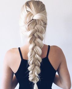 Long Blonde & Light Brown Hair with Messy Braid Hairstyle