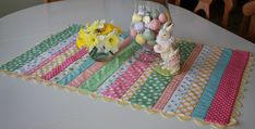 This is a Super Quick Project for Scraps! Polka dots and jumbo rick rack are so pretty in this table runner. We love the spring colors for display under a vase of tulips or daffodils. It's perfect as part of your Easter decor, too. Plus, this is a super easy project to make. Simply select …