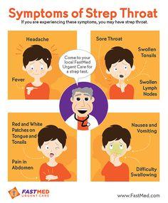 Symptoms of Strep Throat | #strep #sick #health
