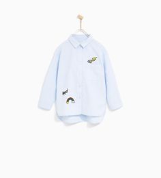 ZARA - KIDS - OXFORD SHIRT WITH PATCHES