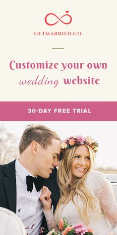 Kicking your #wedding up a notch with a gorgeous #wedsite from #GetMarriedCo. Try It Now! http://getmarried.co/