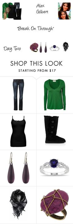 """""""Alex Gilbert Worlds Colliding (The Vampire Diaries) 3.17 """"Break On Through"""""""" by mysticfalls1997 ❤ liked on Polyvore featuring CROSS Jeanswear, American Vintage, BKE, UGG Australia, Alexis Bittar, Miadora and OBEY Clothing"""