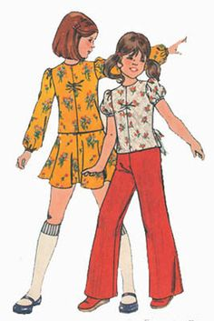 1970s Vintage Sewing Pattern Butterick 4038 Girls by sandritocat, $8.00