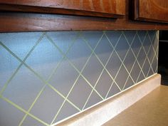 stainless steel-looking backsplash