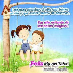 Cada niño es un milagro único e imposible de repetir ¡Feliz Día del Niño!