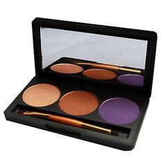 Professional 3 Couleur miroitement de maquillage de scintillement Highlight fard à paupières palette avec miroir et double terminé Brosse CB3P-05 # - EUR € 9.07