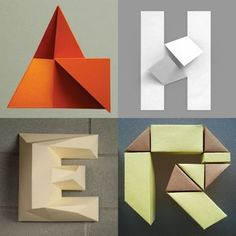Pleat Farm's Top Picks: Folding Paper Typography