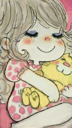水森亜土 Retro Cartoons, Retro Ads, Children's Book Illustration, Character Illustration, Drawing Sketches, Art Drawings, Japanese Aesthetic, Kawaii, Whimsical Art