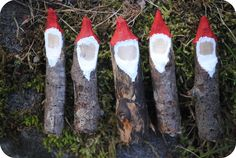 So cute, twig gnomes...could do something fun w/these for Christmas too I'm sure.
