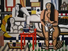 Cubism still remains my favorite movement in the the 2Oth.  Ferdinand Leger, Three Women (1921), Purism