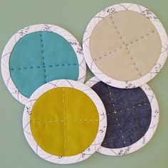 Big Stitch Coaster Tutorial by Carolyn Friedlander