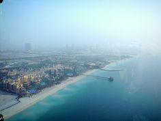 ini diatas pesawat?? bukan! ini pemandangan dari lt.127 Burj Al Arab Sky View Bar! #dBCNinDubai #OriflameGC2013