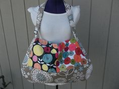 Large Messenger Bag in Grays by OMGDesigns on Etsy