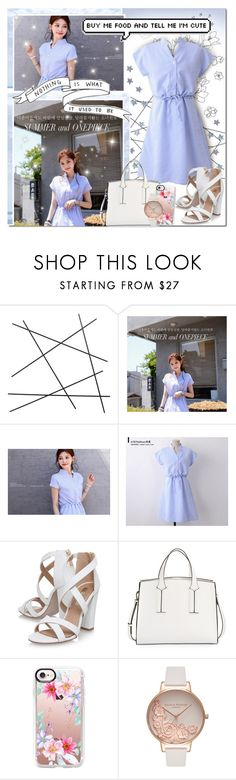 """Sparkling Sky Blue"" by angelstylee ❤ liked on Polyvore featuring CB2, Miss KG, French Connection, Casetify and Olivia Burton"