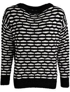 Mønstret oversize striksweater