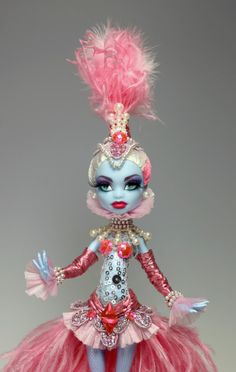 themonsterhighdolls:    From ebay!: http://www.ebay.com/itm/OOAK-Monster-High-Doll-ABBEY-Repaint-and-custom-dress-outfit-by-Van-Craig-/290713327923?pt=LH_DefaultDomain_0=item43afdd5933