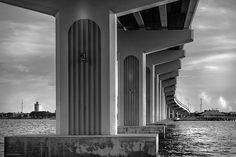 """""""Black And White Bridge"""" by fellow artist/photographer Louise Hill."""