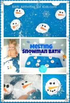Melting Snowman Bath!