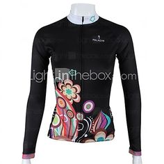 PALADIN® Cycling Jersey Women's Long Sleeve Bike Breathable / Quick Dry Jersey / Tops 100% Polyester Floral / BotanicalSpring / Summer / 2016 - $19.99