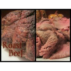 Roast Beef - YUM!!! Ingredients: 1 top round or eye round roast beef Olive oil for brushing Salt, pepper ,and garlic to season the beef Water Directions: Pre heat oven to 500° Brush roast with olive...