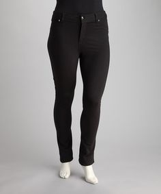 Take a look at this Black Button Fly Plus-Size Jeggings by Poplooks on #zulily today!$17.99, regular 70.00