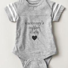 Take your little night owl on that necessary coffee run with you in this stylish gender neutral Mommy's little coffee date onesie.