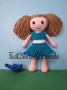 Crochet Dress for Featherby & Friends Big Sister Doll - Available on Ravelry!