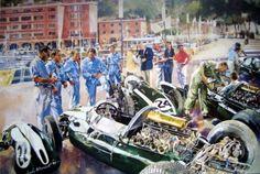 "Artprint - ""Cooper team"" Monaco Grand Prix 1959 - Cooper Climax T51 's Featuring John Cooper"