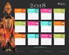 Free Calendar 2018 Background Wallpapers for Desktop Mobile Download