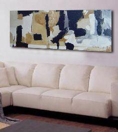 Cuadro Abstracto en lienzo pintado a mano, orientación horizontal.lienzo de algodón sobre bastidor de madera de 3,5 cm de lado. No necesita marco.