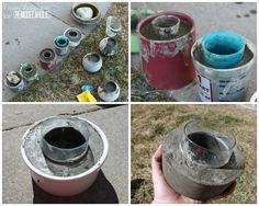 maybe some cement  diy cement planters with excellent guide and links