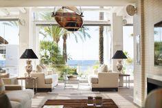 Interior del #SeaGrill con vistas al #mar. #PuenteRomanoBeachResortMarbella  #gastronomia