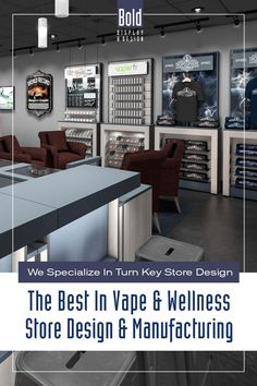 We create custom store designs at stock fixture pricing. We take your store floor plan, design a full color store rendering like the pin images. Then quote and manufacturer your unique store, it's easy! Drop us a email and we will get in contact with you. Visit our dedicated sites: bolddisplaycbd.com bolddisplayvape.com #storedesign #retailstoredesign #Vapestoredesign #instoredesign #storelayout #retailstoreinterior #wellnessstoredesign #storefixturedisplays Vape Store Design, Retail Store Design, Store Layout, Plan Design, Floor Plans, Wellness, Quote, Good Things, Drop