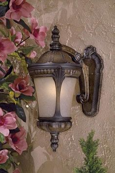 The Great Outdoors GO 9143 3 Light 23.5' Height Outdoor Wall Sconce in Prussian, Prussian Gold